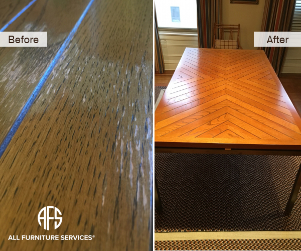 Ling Wooden Furniture Kitchen Dining Table Top Water Damage